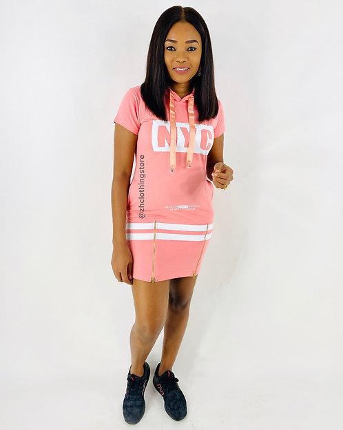 Pink Slogan Dress