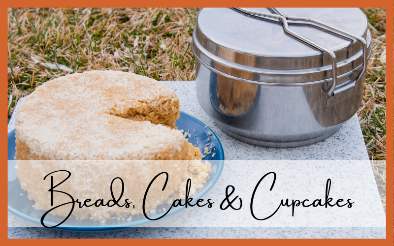 Coconut cake made in 1.3 L covered bread pan, recipe page 132