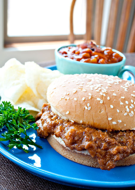 Thermal Cooker Sloppy Joes and Baked Beans