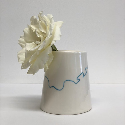 Personalised coastline on a porcelain Bud Vase