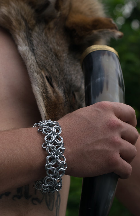 Hand-Crafted Chain Cuff