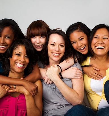 happy diverse women