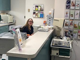 reception desk at ob-gyn offie