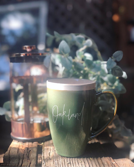 Elegant Oakland Bistro Mug Set