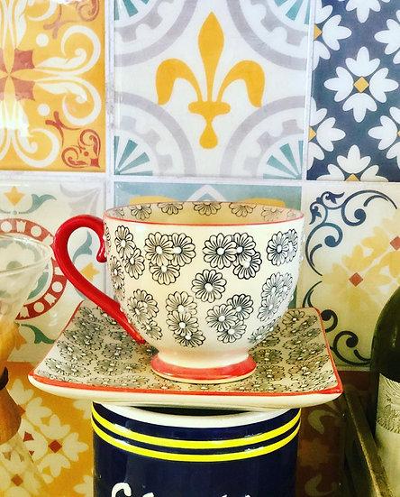 Pretty Ceramic Cup & Saucer Set