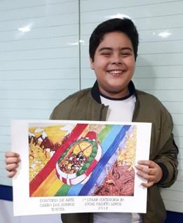 Aluno do CFC conquista 1º lugar em competição nacional de desenho