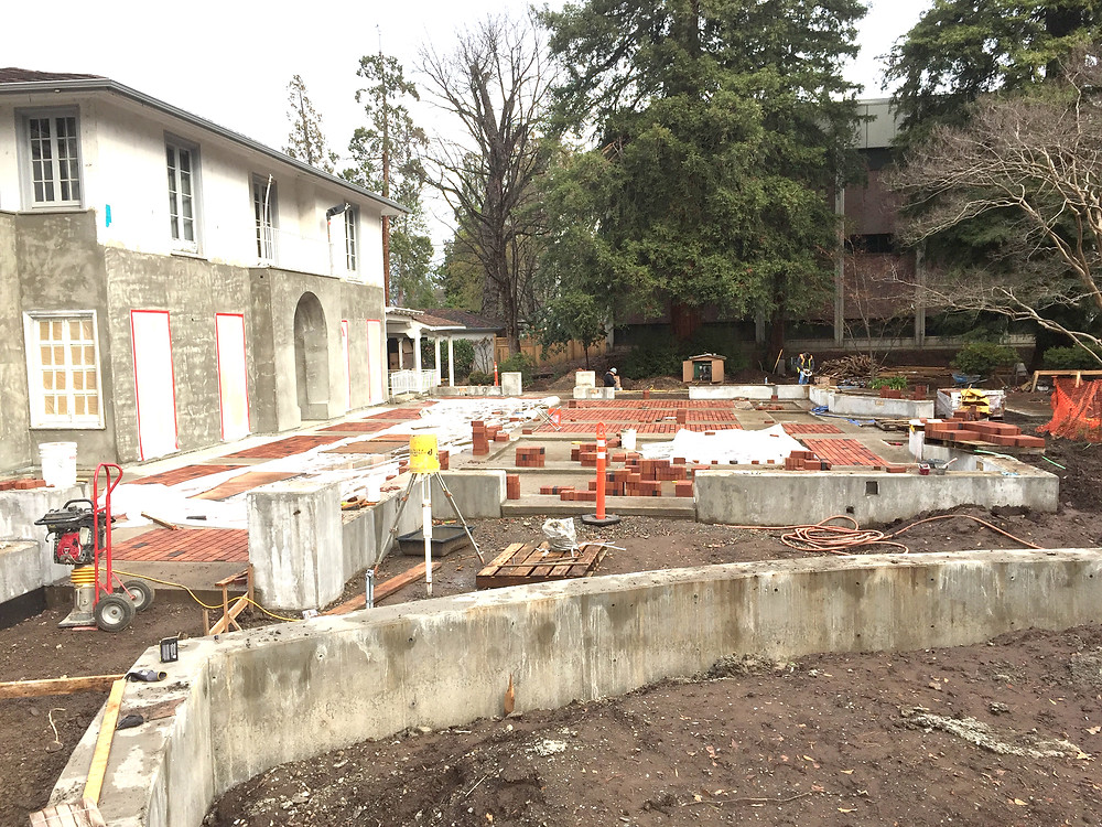 Photo of Warren Center renovation progress at Chico State