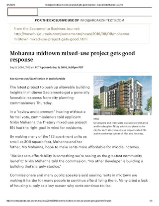 19 J project gets good response
