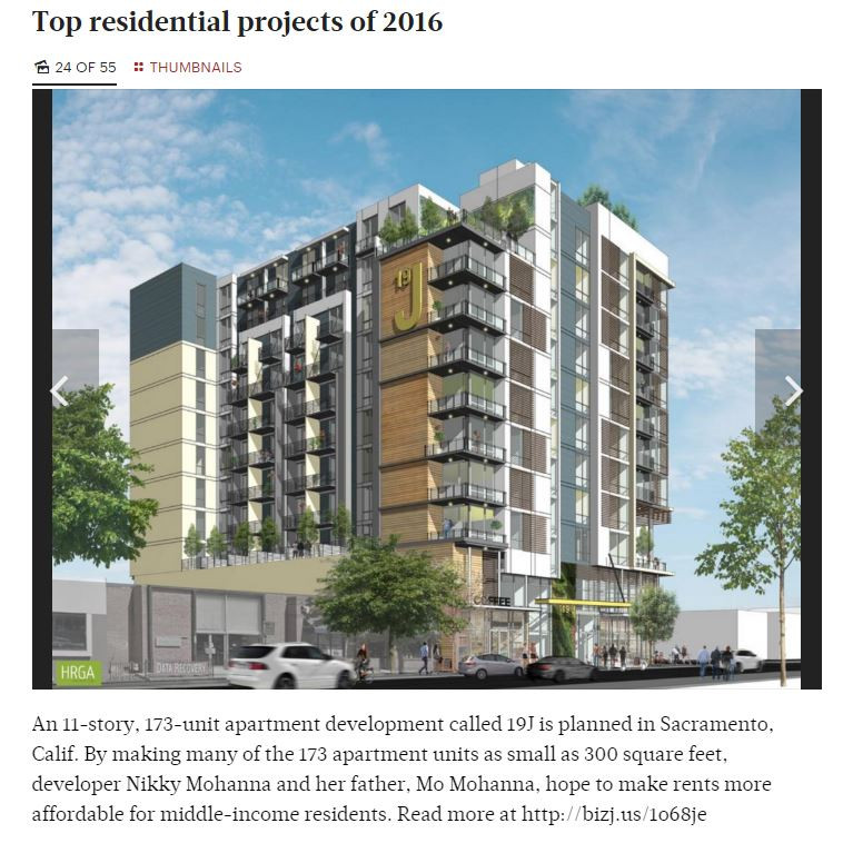 Photo from the Sacramento Business Journal covering HRGA's 19 J St architecture project in Sacramento