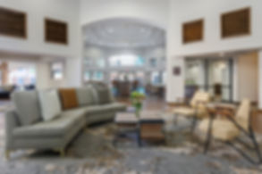 Image of the lobby of the recently renovated Doubletree Hotel from HRGA
