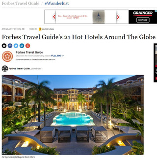 Las Alcobas Listed On Forbes Travel Guide's 21 Hot Hotels Around The Globe
