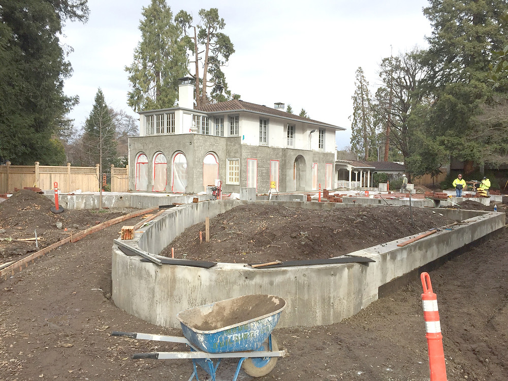 Photo of Warren Center renovation in progress at Chico State.