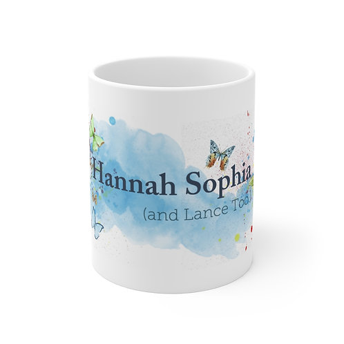 Hannah Sophia (and Lance Too.) Watercolor Mug
