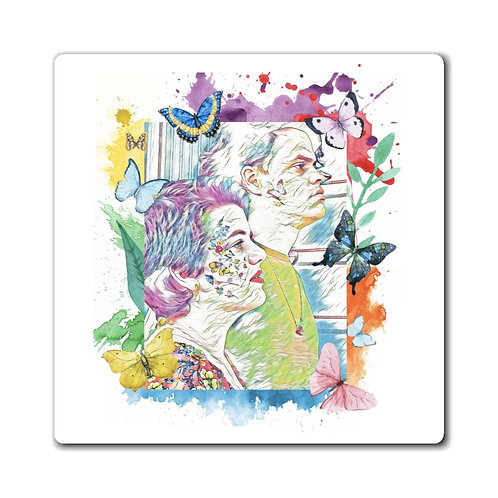 Hannah Sophia (and Lance Too.) Watercolor Magnet