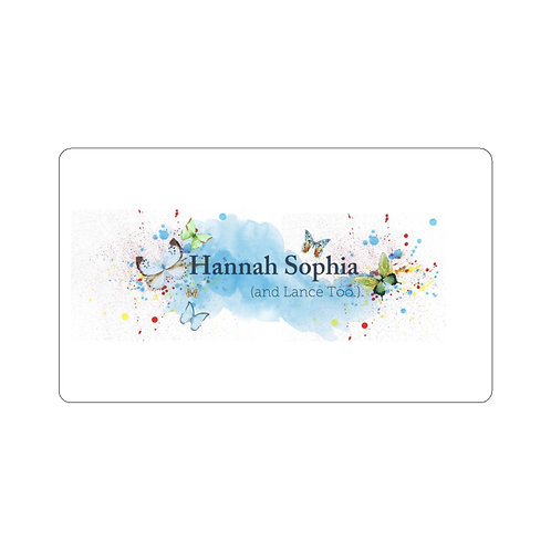 Hannah Sophia (and Lance Too.) Watercolor Sticker