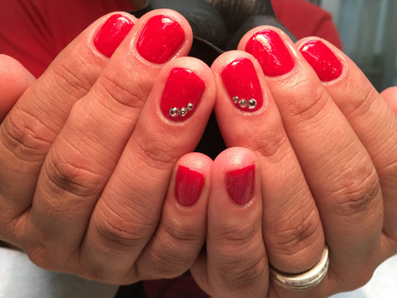 Simple Nails - Red