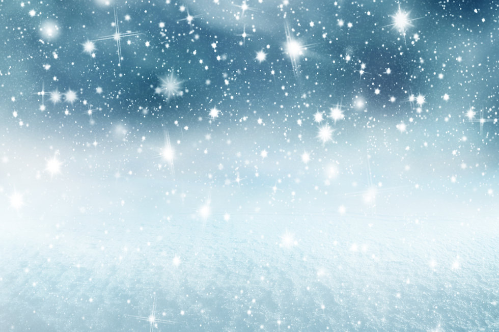 Winter christmas background with shiny s