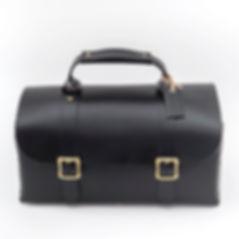 black ツールBOX型イタリアンレザーバッグ