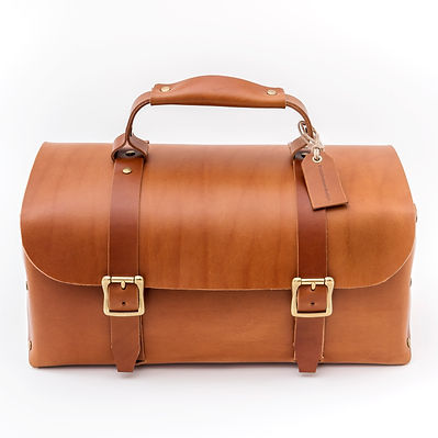 brown ツールBOX型イタリアンレザーバッグ