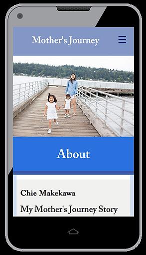 Mother's Journey Website Mobile