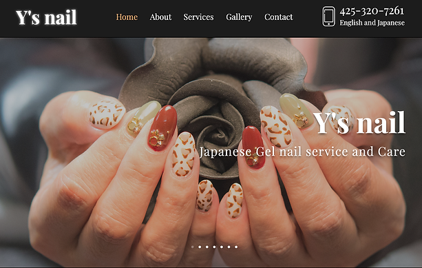 Y's nail Website Top