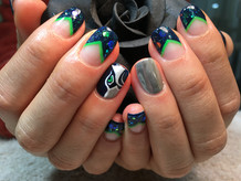 Special Nails - Seahawks Nail Designs