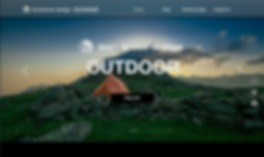 buzzhouse design. OUTDOOR Website TOP image