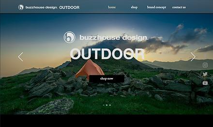 buzzhouse design. OUTDOOR Website TOP image