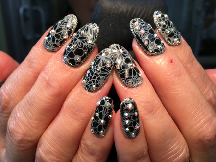 Long Nails - Dark Colors