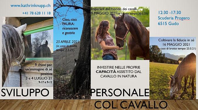 flyer seminari col cavallo 2021 con date