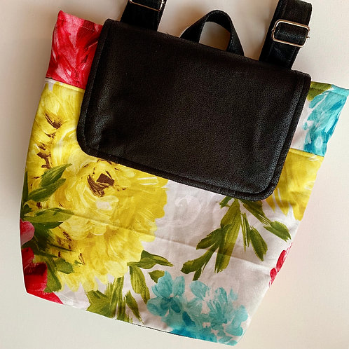 Posie Floral Backpack Purse