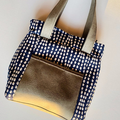 Navy Pebble Handbag