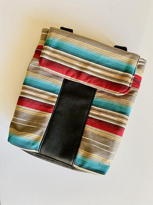 Southwest Stripe Backpack Purse