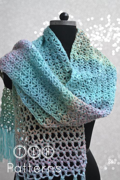 Pastel confetti scarf crochet pattern
