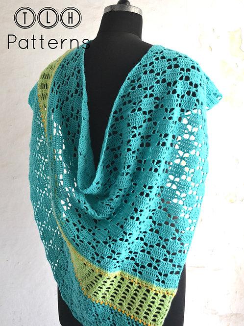 Safia asymmetrical shawl