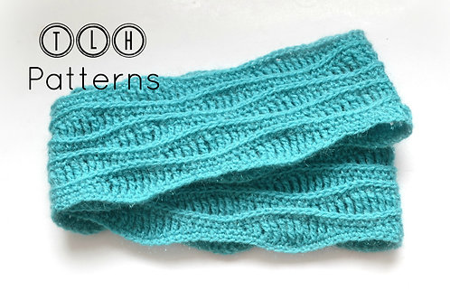 Ocean waves infinity scarf