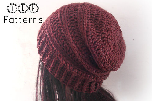 Chocolate Slouchy Hat