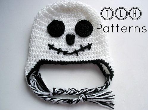 Halloween ghost earflap hat