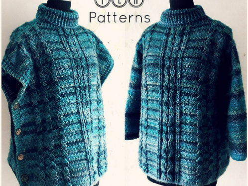 2 in 1 poncho sweater