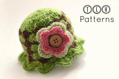 Shell stitch hat