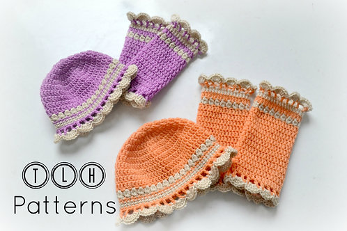 Baby girl flapper hat and legwarmers