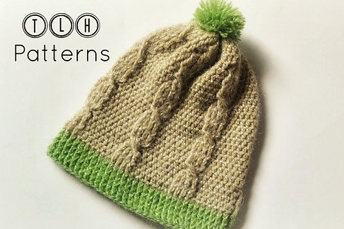 Cable stitch hat