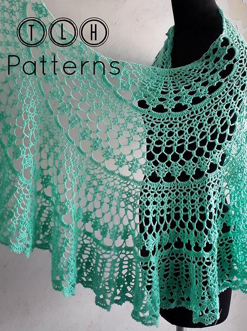 Tiffany crochet shawl