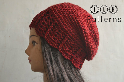 Slouchy beanie with shell trim