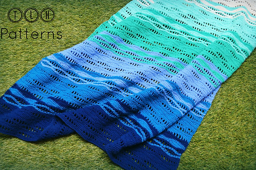Endless waves crochet baby blanket