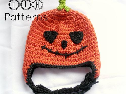 Jack-O-Lantern earflap hat