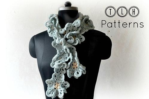 Ruffle flower scarf