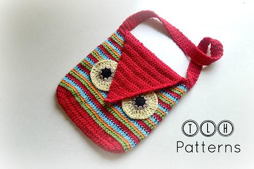 Striped owl bag