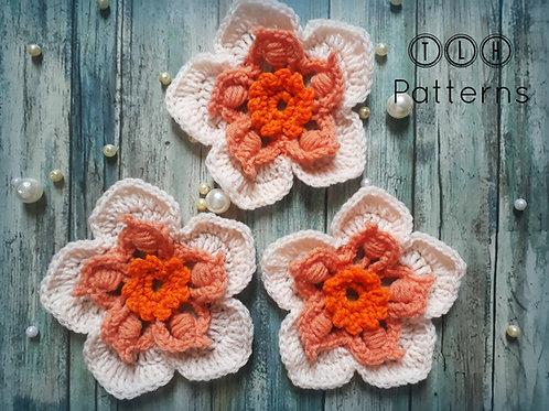 Crochet 3 layer flower