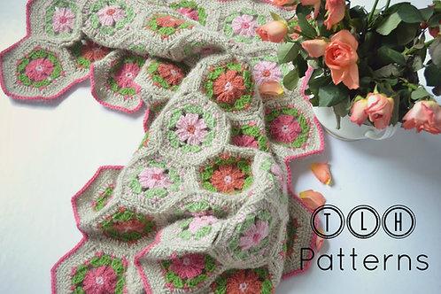 Hexagon flower baby blanket